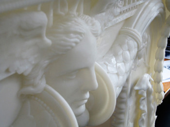 Fig. 3d. Detail of Chimneypiece, after Piranesi (2010), stereolithophic resin model.