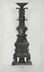 Fig. 7b. Piranesi, Candelabrum from Vasi, candelabri,… (1778), etching, 72.5 x 48.4 cm.