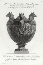 Fig. 8b. Piranesi, antique marble Vase decorated with griffin heads from Vasi, candelabri,...  (1778), etching, 38.8 x 25.5 cm.