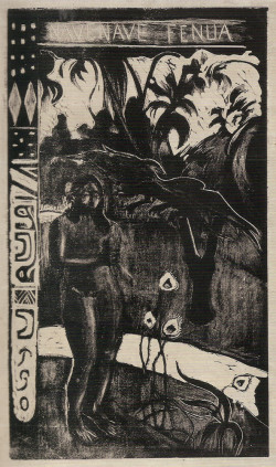 Paul Gauguin, Te Nave Nave Fenua (Delightful Land) (1894), woodcut. Printed by the artist. National Gallery of Art, Washington DC.