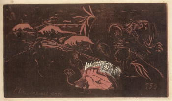 Paul Gauguin, l'Univers est crée (The Universe is Created) (1894), woodcut. Printed by Louis Roy. National Gallery of Art, Washington DC.