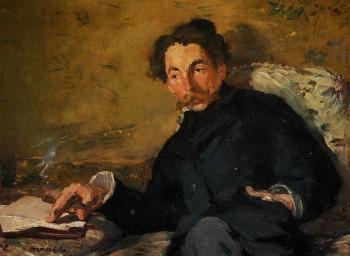 Fig. 1. Edouard Manet, Portrait of Stéphane Mallarmé (1876), oil on canvas, 27.5 x 36 cm. Musée d'Orsay, Paris.