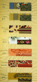 Fig. 1. Selection of wallpapers for Château Larlenque, near Toulouse. Part of an architectural project by Edmond Fatio, 1920-1925. Archives d'Etat, Geneva.
