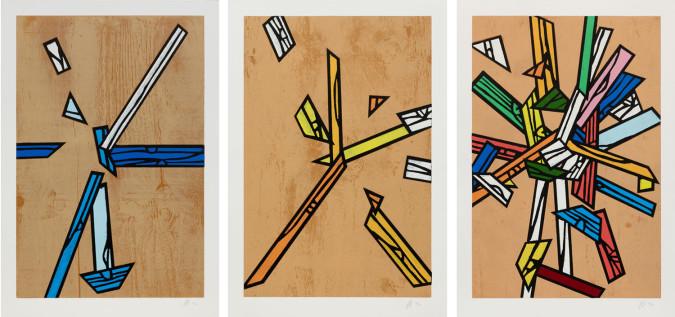 Richard Woods, Woodblock Inlays 1, 4 and 5 (2011).