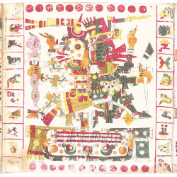Fig. 1e. Anonymous (Pre-Columbian, probably Nahuatl), detail of page 56 of the Codex Borgia (1898 facsimile edition).