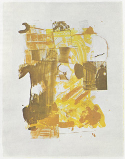 Fig. 1. Robert Rauschenberg, Stunt Man II (1962), lithograph, 18 1/4 x 13 3/4 inches, from Contemporary Painters and Sculptors as Printmakers.