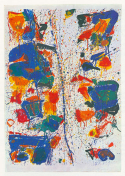 Fig. 2. Sam Francis, The White Line (1960), lithograph, 35 3/4 x 24 11/16 inches, from Contemporary Painters and Sculptors as Printmakers.