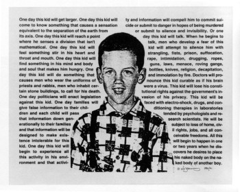 Fig. 6. David Wojnarowicz, Untitled (1990-91), photostat from Thinking Print: Books to Billboards, 1980-95.
