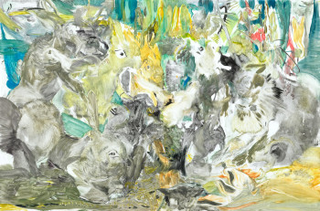 Cecily Brown, one from the series Untitled (2012), monotype.