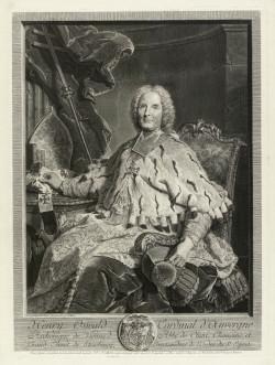 Claude Drevet, Henri-Oswald de la Tour d'Auvergne (1749), engraving, after Hyacinthe Rigaud, plate 50.6 x 38.0 cm. Given by John Charrington 1933, ©The Fitzwilliam Museum, Cambridge.