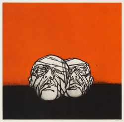 Tony Bevan, Heads Horizon (2007), etching, 48 x 64 cm. Edition of 15. Printed by Paupers Press, published by the artist.