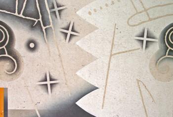 Fig. 5. Akira Kurosaki, Nekropolis 1, Winter Straits (2006) woodblock, Korean kozo paper, 39,5 x 59 cm. Edition of 50. Printed by the artist. ©Akira Kurosaki by courtesy of Galerie Miyawaki, Kyoto, Japan.