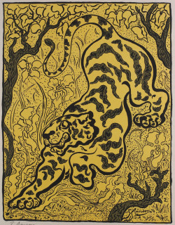 Paul Ranson, Tigre dans les jungles (Tiger in the Jungle) (1893), color lithograph, image 36.51 x 28.58 cm. Collection Minneapolis Institute of Arts. Gift of Mrs. Patrick Butler, by exchange. P.70.69.