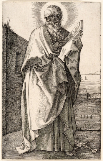 Albrecht Dürer, St. Paul (1514), engraving. The Metropolitan Museum of Art, Fletcher Fund, 1919 (19.73.58). Image ©The Metropolitan Museum of Art.