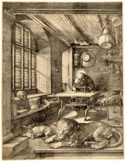 Albrecht Dürer, Saint Jerome in His Study (1514), engraving. The Metropolitan Museum of Art, Fletcher Fund, 1919 (19.73.68). Image ©The Metropolitan Museum of Art.