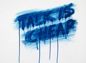 Mel Bochner, Talk is Cheap (2012).