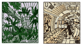 Tobias Till, K is for Kew Gardens and U is for Underground from the series London A-Z (2012).