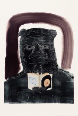 Nicole Eisenman, Untitled (2012), monotype on paper, image 58.4 x 44.5 cm, sheet 61.9 × 47.6 cm. Unique image. Image courtesy the artist and Leo Koenig Inc. New York, NY.