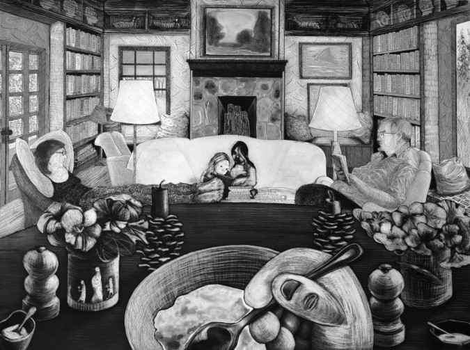 Nicole Eisenman, Watermark (2012), etching, image 45.7 x 61 cm, sheet 60.6 x 74.6 cm. Edition of 20. Printed and published by Harlan & Weaver, Inc., New York, NY. Courtesy Leo Koenig Inc., New York, NY.