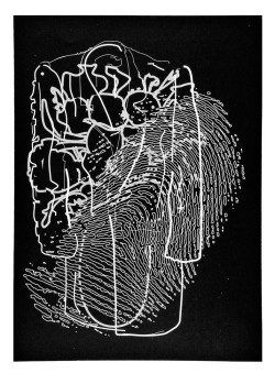Paul Coldwell, My Father's Coat III (1994), intaglio printed relief, image 55 x 40 cm, sheet 76 x 56 cm. Edition of 10. Printed and published by the artist, London.