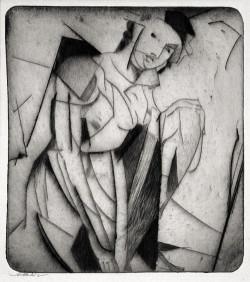 Arthur B. Davies, Figure in Glass (1916-17), drypoint on zinc. Courtesy Harris Schrank, New York.