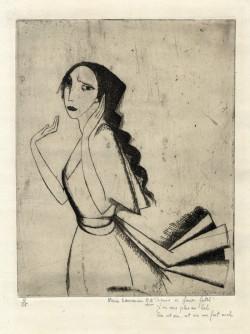 Marie Laurencin, La Romance (1912), etching. Edition of 25. Courtesy Harris Schrank, New York.