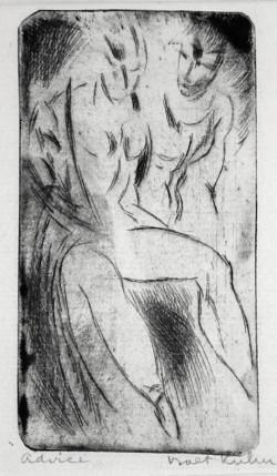 Walt Kuhn, Strong Girl (1916), drypoint. Courtesy Harris Schrank, New York.