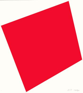 Ellsworth Kelly, Red [true red or vermilion] (2005), lithograph, 84.5 x 75.9 cm. ©Ellsworth Kelly and Gemini G.E.L., LLC, Los Angeles.