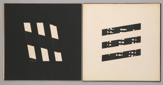 Dieter Roth, book c6 (1959), artist's book of hand-cut cardstock, page 38.1 x 38.1 cm. Edition: unknown. Fabricated by the artist, Reykjavík. Published by forlag ed, Reykjavík. The Museum of Modern Art Library, New York. Photo: Jonathan Muzikar. ©2013 Estate of Dieter Roth.