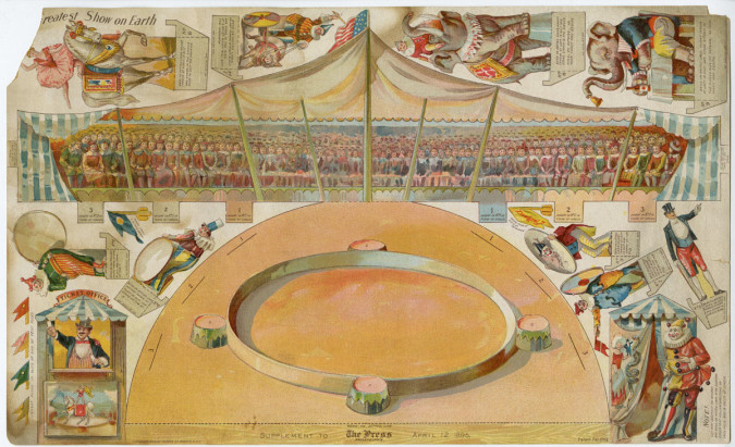 "Forbes Co., ""Greatest Show on Earth,"" art supplement to The Philadelphia Press, April 12, 1896, chromolithograph. Courtesy of the Library Company of Philadelphia."