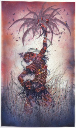 Wangechi Mutu, Le Noble Savage (2006), ink and collage on Mylar, 91 3/4 x 54 in. (233 x 137.2 cm). Collection of Martin and Rebecca Eisenberg, Scarsdale, New York. Image courtesy of the artist ©Wangechi Mutu.