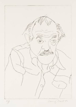 Terry Frost, Self-portrait (1979), etching, 9 3/4 x 7 1/2 inches.