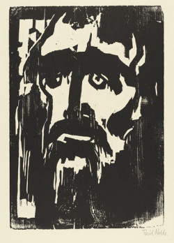 Fig. 3. Emil Nolde, Prophet (1912), woodcut, composition 32.1 x 22.2 cm. The Museum of Modern Art, New York, given anonymously (by exchange), 1956, ©Nolde Stiftung, Seebüll, Germany.