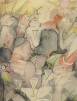 Fig. 4. Jeanne Mammen, Fasching in Berlin N III (Carnival in Berlin N III) (c.1930), watercolor and pencil on paper, 60 x 47.3 cm. The Museum of Modern Art, New York, gift of Mr. and Mrs. Richard Deutsch, 1977, ©2011 Jeanne Mammen, Artists Rights Society (ARS), New York/ VG Bild-Kunst Germany.
