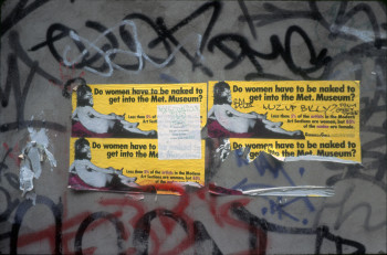 Fig. 3. Guerrilla Girls, Do Women Have to be Naked to Get Into the Met. Museum? (1989), posters on city wall, ©Guerrilla Girls, image courtesy www.guerrillagirls.com