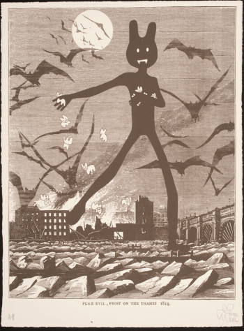Fig. 8. Pure Evil, Frost on the Thames 1814 (2008), screenprint, 76 x 56 cm. The Victoria and Albert Museum, no, E.489-2009. Given by the Pure Evil Gallery, ©Pure Evil.