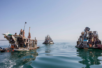 Swoon and collaborators, Swimming Seas of Serenissima (2009, Adriatic Sea).