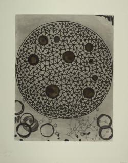 Terry Winters, Album (1988), etching and aquatint, 52 x 40.3 cm. From a portfolio of nine etchings published by Editions Ilene Kurtz, New York. Bibliothèque nationale de France, département des Estampes et de la photographie. ©Terry Winters.
