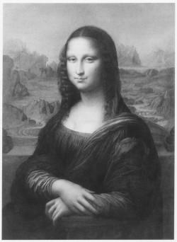 Luigi Calamatta, after Leonardo, Mona Lisa (1857), engraving, 37.5 x 27.5 cm. Paris, Bibliothèque Nationale de France, Département des Estampes et Photographies.