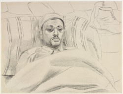 Edward Bawden, A Man from Benghazi: Pte Mohamed Libyan Labour Corps. South African 18th Casualty Clearing Station, Maaten Bagush (1941), ink drawing, 50.9 cm x 63.7 cm. Image ©Crown Copyright: Imperial War Museums. ©The Estate of Edward Bawden.