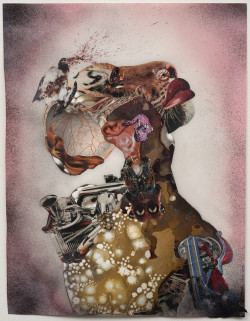 Wangechi Mutu, Homeward Bound (2009), archival pigment print with screenprint, 24 x 18 1/4 inches. Edition of 45. Printed and published by Edition Jacob Samuel, Santa Monica, California. Courtesy of the artist.