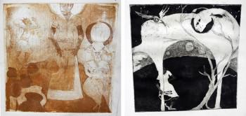 Left: Wangechi Mutu, Untitled (c.1993-1996) print on paper. Right: Wangechi Mutu, Untitled (c.1993-1996) print on paper. Both images courtesy of the artist.