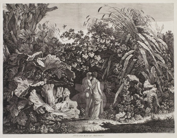 Fig. 1. Carl Wilhelm Kolbe, Et in Arcadia ego (1801), etching, 40.9 x 52.7 cm, Charles Booth-Clibborn collection, London (Contemporary Editions Ltd, London).