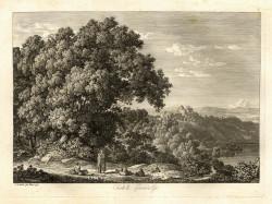 Johann Christian Reinhart, Castella Gandolfo (1792), etching, 27.7 x 37.3 cm, Kunsthandlung C.G. Boerner, Düsseldorf.