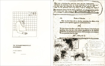 Left: Marcus Rees Roberts, The Dour Life (title sheet) (1980), etching and aquatint, image 19.5 x 15.5 cm. Edition of 6. Printed by the artist, London and Edinburgh. Image courtesy of Pratt Contemporary, London. Right: Marcus Rees Roberts, The Dour Life III (1980), etching and aquatint, image 19.5 x 15.5 cm. Edition of 6. Printed by the artist, London and Edinburgh. Image courtesy of Pratt Contemporary, London.