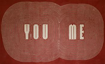 Paula Scher, You Me (2014).