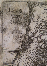 Fig. A. Albrecht Dürer, detail from The Large Cannon (1518), state ii/iii, etching, 22 x 32.2 mm. Private Collection.