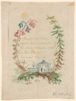 Jean Baptiste Pillement, Nouvelle Suite de Cahiers de Desseins Chinois, numéro 1 (ca. 1760), color etching, image: 19.3 x 13.7 cm, sheet 22.2 x 16.7 cm. Printed by Anne Allen. The Miriam and Ira D. Wallach Division of Art, Prints and Photographs: Print Collection, The New York Public Library.
