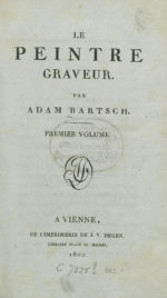 Title page from Le Peintre Graveur (Vienna: J.V. Degen, Libraire Place St. Michel, 1802). Collection of the Heidelberg University Library.