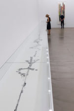 """Installation view of Manga Scroll (2010) at """"Christian Marclay. Action,"""" Aargauer Kunsthaus, Aarau, 30 August–15 November 2015. Photo: René Rötheli, Baden."""